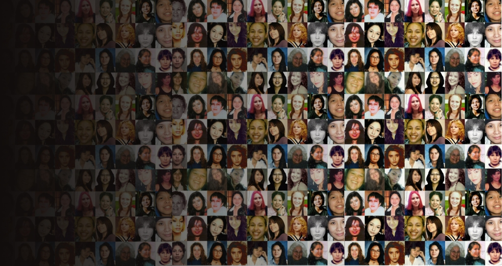 Collage of missing Native American Girls.