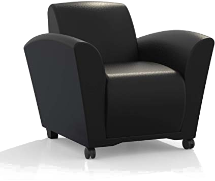 Black Leather lounge chair.