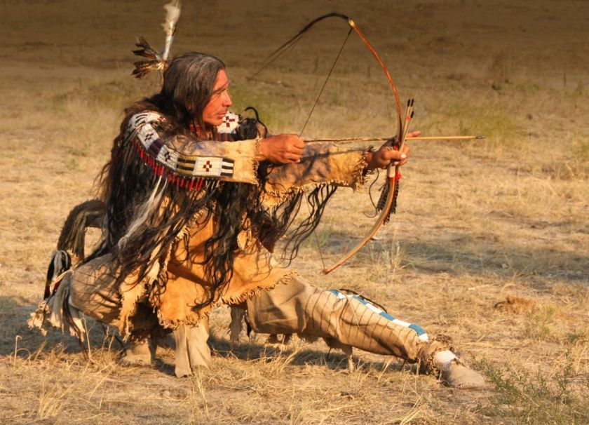 Native American Man Bow And Arrow